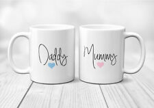 Set Of Two Or Single Mummy And Daddy Mum Dad Mug Cup Present Gift New Parents