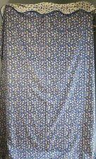 HTF Laura Ashley Polyanthus Primrose Ruffled Shower Curtain Fabric Cottage EUC
