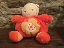 kaloo baby doll orange plume plush lovey