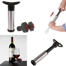 Vacuum Pump Wine Saver Wine Bottle Sealers Preserver 2 Stoppers Corks Sealer