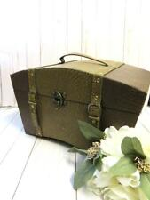 Jewelry Antique R.F HAMMER Cincinnati Wooden Storage Sewing Box