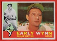 1960 Topps #1 Early Wynn VG WRINKLE Hall of Fame Chicago White Sox FREE SHIPPING