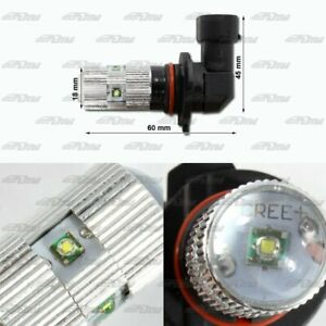 1x Pair Buick Chevy Acura BMW 9005 HB3 25 Watt 5 LED White Projector Bulbs