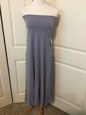 NWT Lularoe Solid Blue Heather Cotton Blend Maxi Skirt Size S