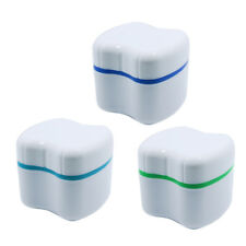 Denture False Teeth Box Rinsing Basket Container Bath Appliance Storage Case New