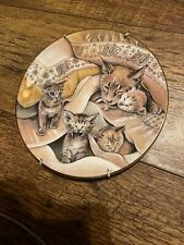 """Royal Worcester """"Cats & Kittens"""" Plate Series No 3 Abyssinians by Pam Cooper"""