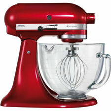 New KitchenAid 5KSM156BCA Artisan 4.8L Stand Mixer Glass Bowl - Candy Apple Red