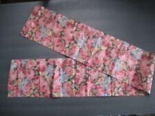 "Antique 6"" X 37"" Multi-Colored Satin Floral Ribbon"