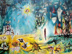 The Earth Is A Man Painting by Roberto Matta Wall Art - Top Quality Canvas Print