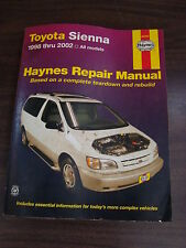 Haynes Manual Toyota Sienna 1982-2002 All Models 2003 Softcover