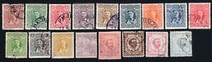 Montenegro 1874-1907 group of 17 stamps Gs MH/MNG/used