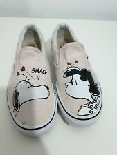 Vans Peanuts Slip On Shoes Womens SIZE 4 - Snoopy/Lucy Kiss Charlie Brown