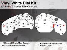 BMW 3 Series E36 Compact (1990 - 2000) - 140mph +3C - Vinyl White Dial Kit