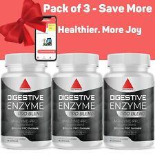 Digestive Enzymes Prebiotic & Probiotics, Gas, Constipation, Bloating Relief x3