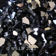 "4 LBS 1/4"" Black Reflective Fireglass Fire Pit Rocks Fireplace Glass Crystals"