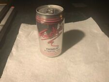 Foecking 12 oz pull tab bottom opened empty beer can.