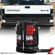 94-01 Dodge Ram Truck 1500 2500 3500 L+R Black Housing LED Tail Light Brake Lamp
