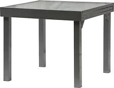 IB-Style® DIPLOMAT Quadro Ausziehtisch 90-180 cm schwarz Gartentisch Gartenmöbel