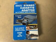 Kraco Stereo Cassette Adaptor for 8-Track Tape Players Model KCA-7A Vintage