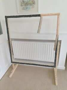 Rug hooking frame / Punch needle frame 98cms x 98cms and stand