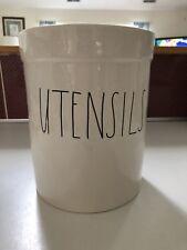 """New Rae Dunn LL """"UTENSILS"""" Kitchen Utensil Holder!"""