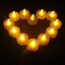 LED Flameless Tea Light Tealight Candle Wedding Decoration Battery Warm 12pk