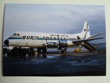 British United AW, Vickers Viscount, G-APTB, Glasgow Airport, 1967, new postcard