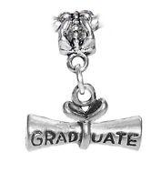Graduate Diploma Graduation Gift Dangle Charm for European Bead Slide Bracelets