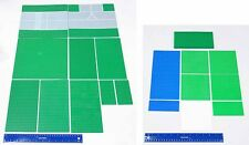 LEGO Lot of 19 Mostly Green Landscape Base Plates Various Sizes