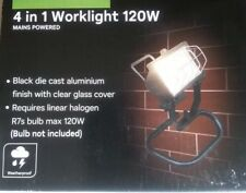Homebase Halogen 4 in 1 Worklight 120watt Black