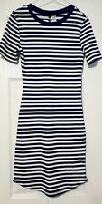 H&M stripes dress black and white size 8