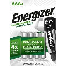 4 Energizer AAA Rechargeable Piles 700 mAh NiMH LR03 HR03 Lettre suivie