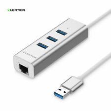 LENTION USB to USB 3.0 Hub Splitter Ethernet Hard Drive Adapter for MacBook hp