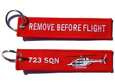 723 Squadron Bell 429  Remove Before Flight Key Ring Luggage Tag