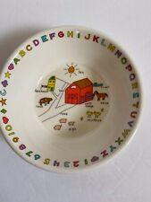 Anacapa Melamine Ware Child's Bowl Alphabet & Words Vintage 1987