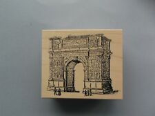 100 PROOF PRESS RUBBER STAMPS ARC DE TRIUMPH NEW wood STAMP