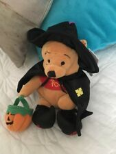 """Witch Pooh With Pumpkin Bag Boo 2000 Mouseketoys The Walt Disney Co 9"""" Halloween"""