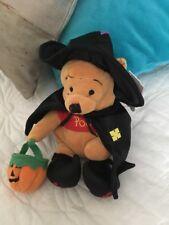 "Witch Winnie The Pooh W Pumpkin Bag Boo 2000 Mouseketoys The Walt Disney Co 9"""