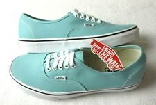 Vans Authentic Mens Aqua Haze Blue True White canvas Skate shoes Size 9.5 NWT