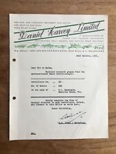 1951 DANIEL HARVEY LIMITED BOX HILL SHARES LETTER HEAD INVOICE RECEIPT F138