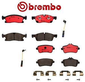 For Mercedes W166 GL450 Front & Rear Ceramic Disc Brake Pads with Sensors Brembo