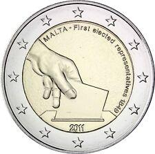Malta 2 Euro 2011 Wahl des Ersten Abgeordneten Gedenkmünze bankfrisch