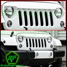 Bright White Angry Bird Replacement Grille Shell fit 07-17 Jeep JK Wrangler