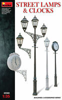 MiniArt 1/35 35560 Street Lamps & Clocks (Buildings & Accessories)