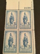 US 989 3c National Capital Sesquicentennial Plate Block = MINT XF NH OG