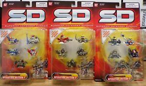 Gundam SD Bandai Operation Meteor 1 2 & 3 Mini Defender 2003 012021DBT