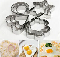 3Pcs Stainless Steel Biscuit Cookie Pastry Fondant Mould Cutter Cake Decorating