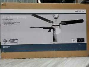 Montgomery 42 in. LED Indoor Brushed Nickel Ceiling Fan with Light Kit by Unbran