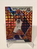 2019-20 Panini Mosaic Basketball Eric Paschall NBA Debut Orange Reactive Prizm