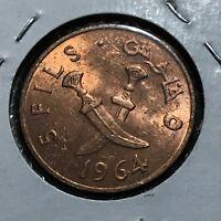 1964 SOUTH ARABIA 5 FILS BRILLIANT UNCIRCULATED BRONZE COIN